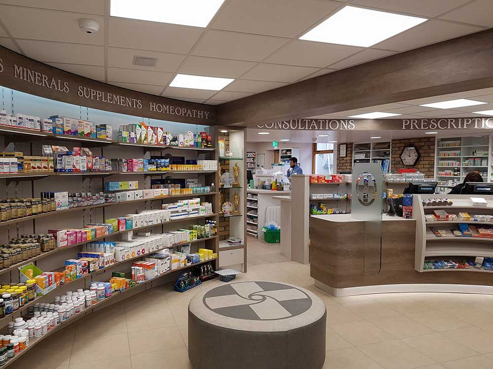 pharmacy shopfitting northern ireland